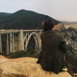 Admiring the bridge